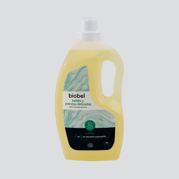 Babies and Delicate Fabrics Ecological Detergent. Highly recommended for washing clothes for babies, or adults with sensitive skin.